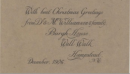 Dr Williamson's Christmas Card of Burgh House (1906)