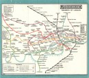 Map of London's Underground Railways (front)