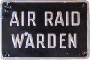 Air Raid Warden Sign