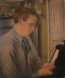 Portrait study of a man playing the piano