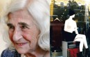 Dorothy Bohm pictured in 2008 and Hampstead High Street 2013