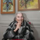 Malvina Cheek at the private view for Retrospective: Scenes from a Hampstead Life
