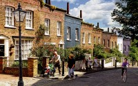 Back Lane, Hampstead, re-imagined by Alan Gubbay
