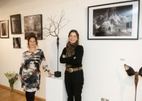 Photographer Sandrine Joseph and sculptor Claire Mazurel at Burgh House