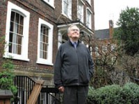Christopher Wade outside Burgh House