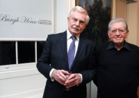 Sir Derek Jacobi and Matthew Lewin at Burgh House
