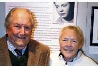 Rona Hart at the Burgh House exhibition with her husband George Newson
