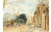 Frognal Lane looking towards the parish church, 1912