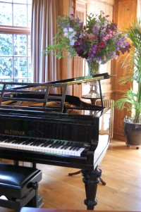 Burgh House Piano with Flowers