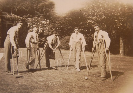 Patients playing croquet at the Rosslyn Lodge Military Auxiliary Hospital