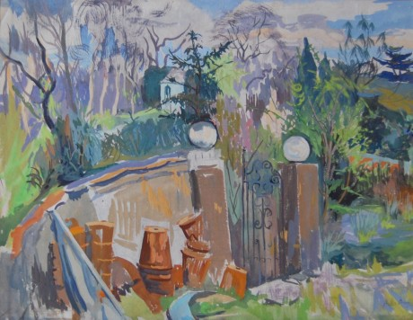 Gateposts and Flowerpots (105 Frognal)