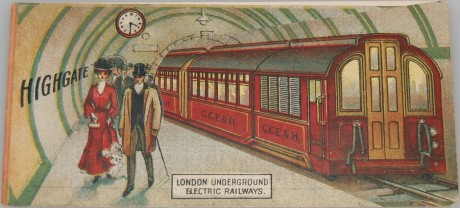 London Underground Electric Railways Advertising Card with Map