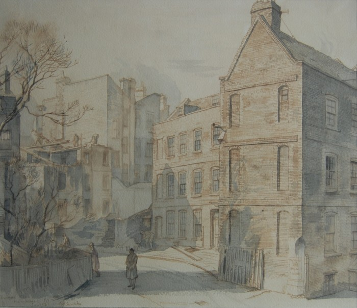 Randolph Schwabe, Burford Close, Hampstead, watercolour on paper, 1931