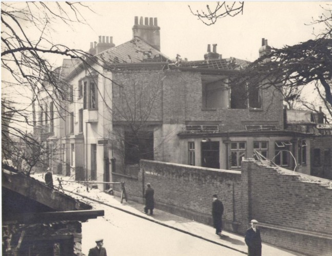 Bomb damage in Hampstead