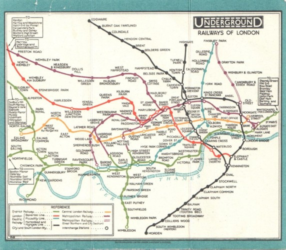 The Collection Artists London Underground Map Burgh House