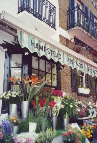 Florist on Hampstead High Street