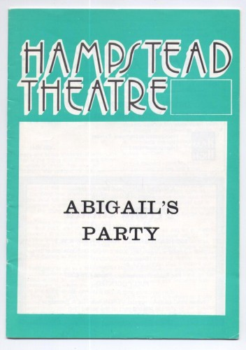 Abigail's Party theatre booklet