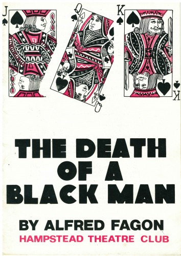 Hampstead Theatre Club brochure, 'The Death of a Black Man' by Alfred Fagon